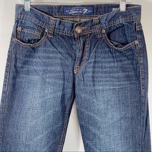Seven7 30 X 32  Jeans Boot Cut Dark  Wash Cotton